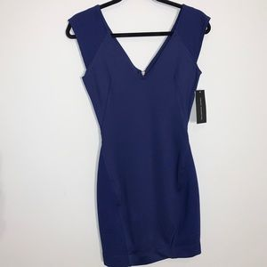 BNWT French Connection Bodycon Dress in Blue